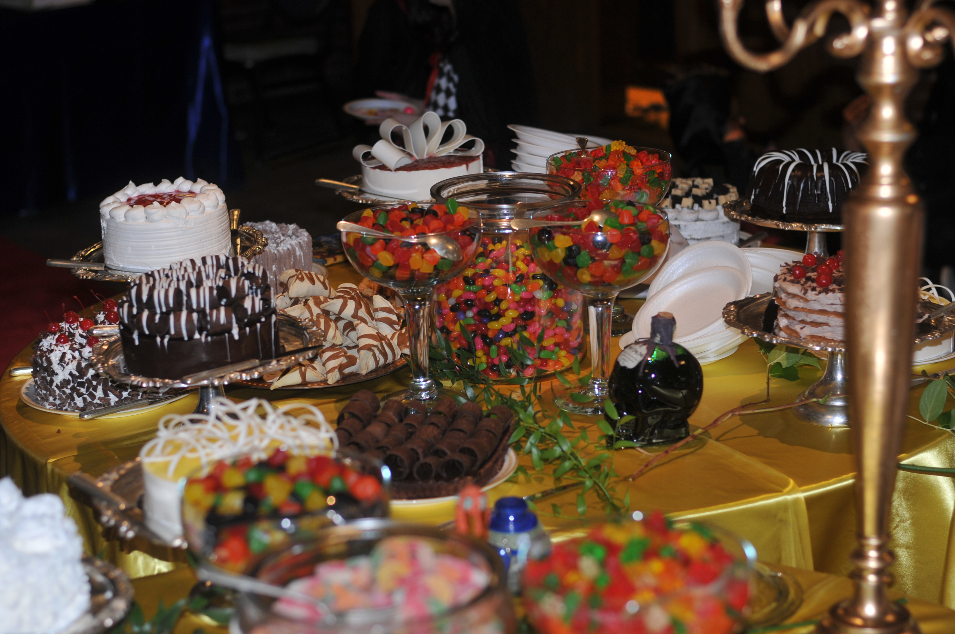 Dessert Table with Cakes and Candy