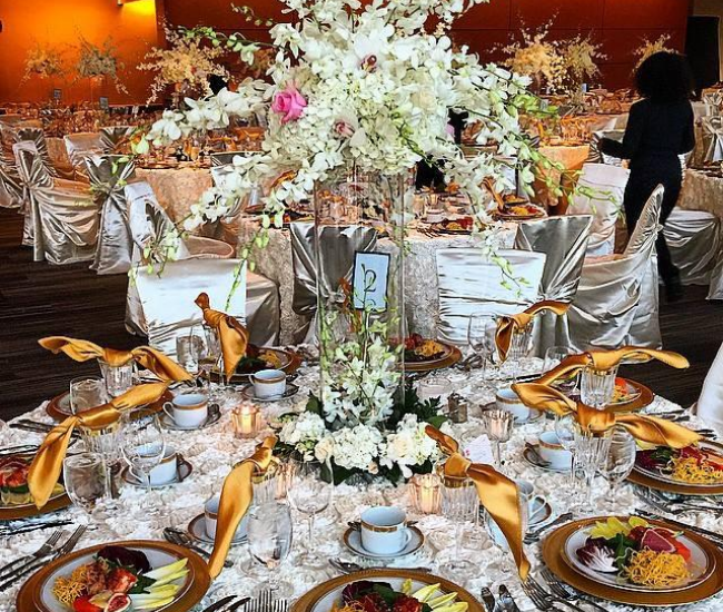 fancy wedding table